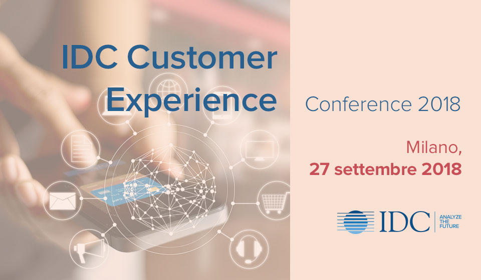 Banner IDC Italia Customer Experience Conference 2018